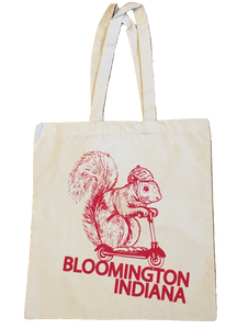 Bloomington Indiana Squirrel on a Bird Tote Bag