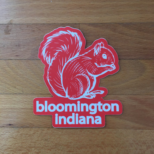 Bloomington squirrel sticker - badkneesTs | badkneesTs