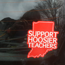 Indiana Red For Ed window cling - Support Hoosier Teachers - badkneesTs | badkneesTs