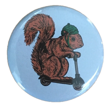 Squirrel on a Bird Button / Magnet