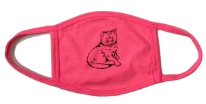 Focus Cat Mask Hot Pink