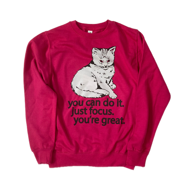 Focus Cat Sweatshirt - Cloud Pink