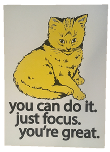 Focus Cat Print - Golden Yellow