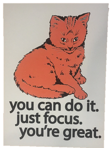 Focus Cat Print - Orange