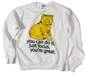 Focus Cat Sweatshirt - Golden Sun