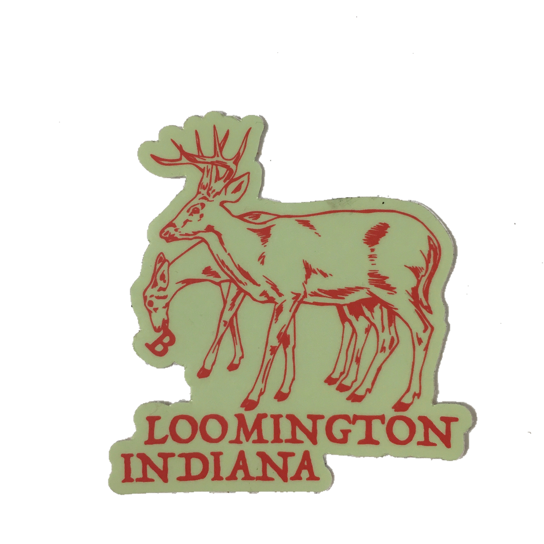 bloomington indiana deer sticker