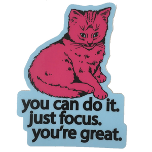 focus cat sticker