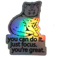 holographic focus cat sticker