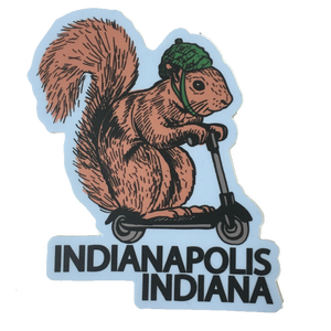 squirrel on a bird indianapolis indiana sticker