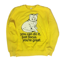 Focus Cat Sweatshirt - Marshmallow Sun