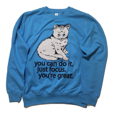 Focus Cat Sweatshirt - Rain Cloud