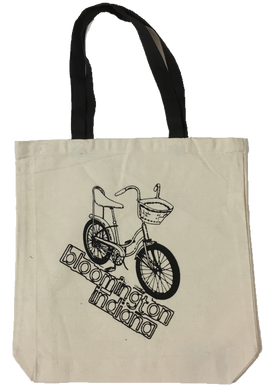 Bloomington Indiana Bicycle Tote Bag