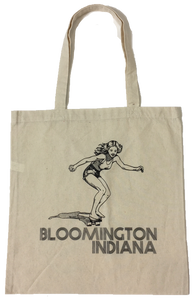 Bloomington Indiana Skater Girl Tote Bag