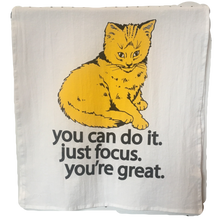 Focus Cat Towel Golden Yellow