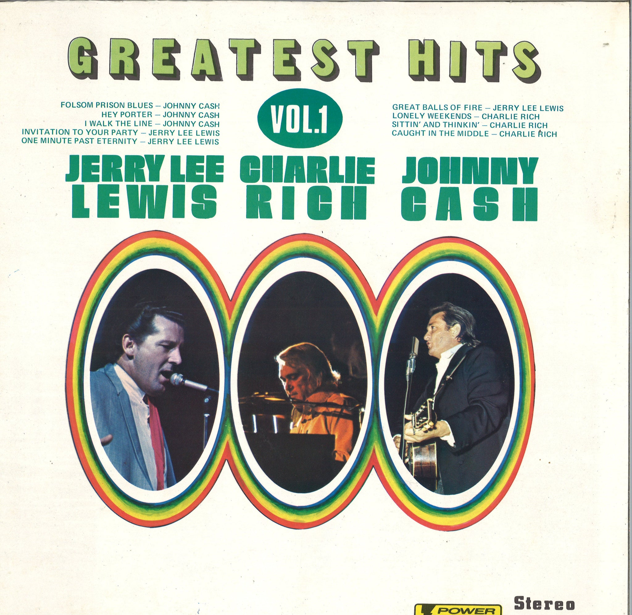 Jerry Lee Lewis, Charlie Rich, And Johnny Cash Greatest Hits Vol.1