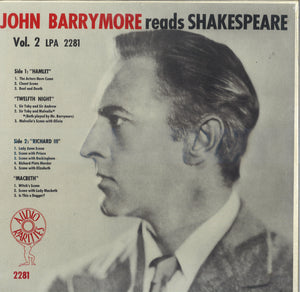 John Barrymore Reads Shakespeare Vol.2