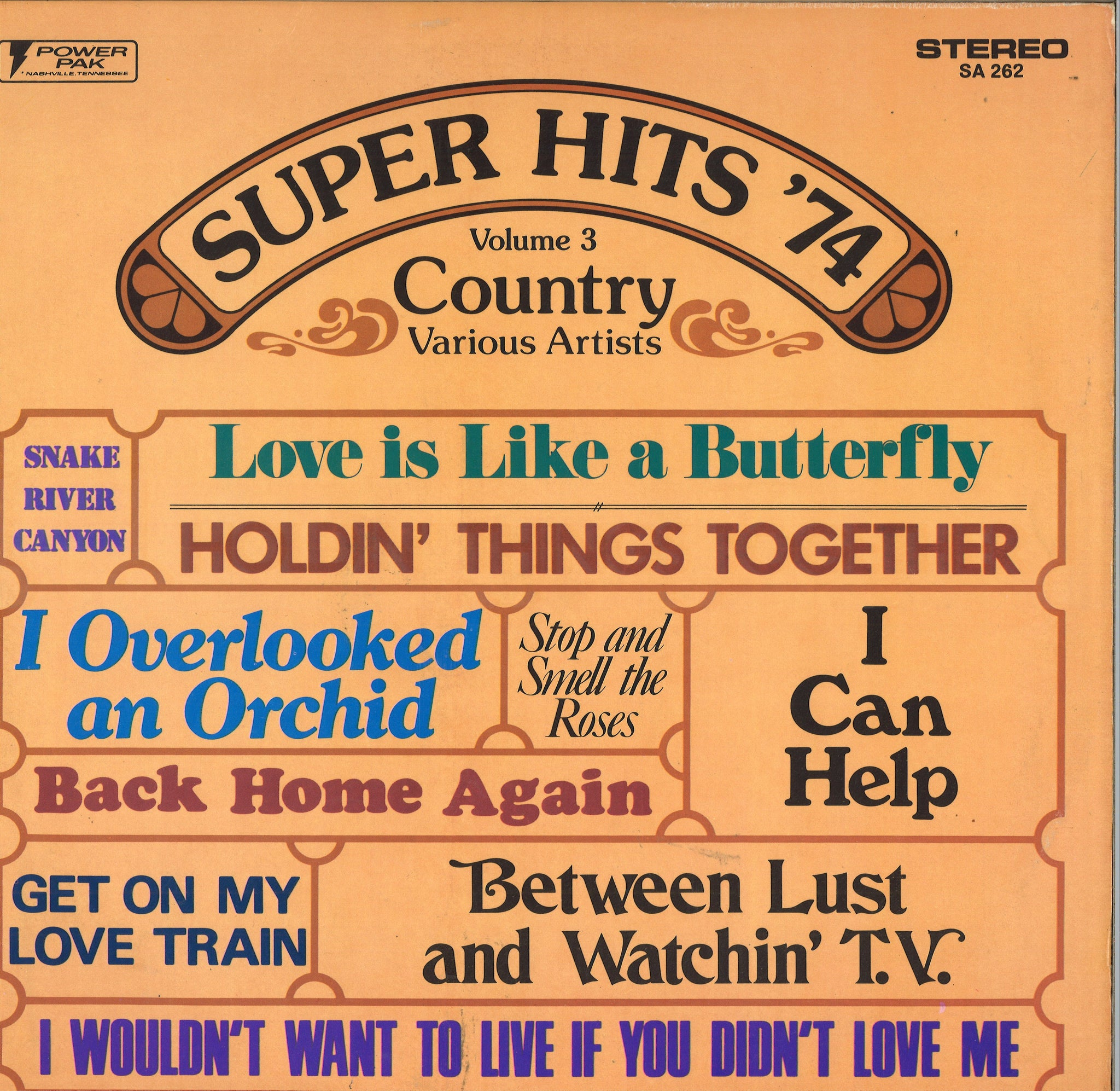 Various Artists Super Hits '74 Volume 3 - Country