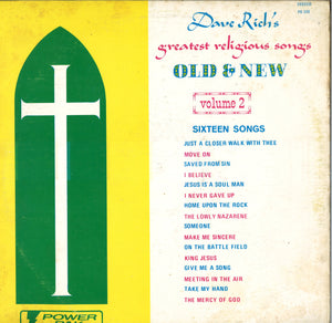 Dave Rich's Greatest Religious Songs Old & New Volume 2