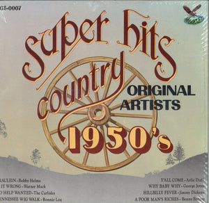 Various Artists Super Hits Country 1950's