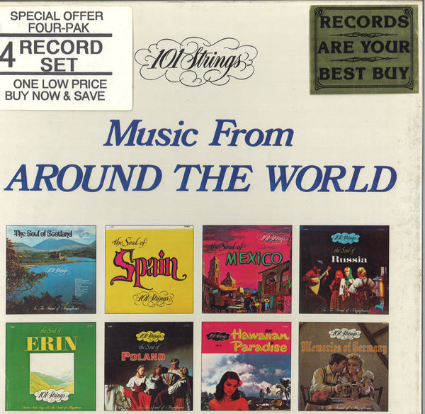 101 Strings Music From Around The World: 4 LP Set