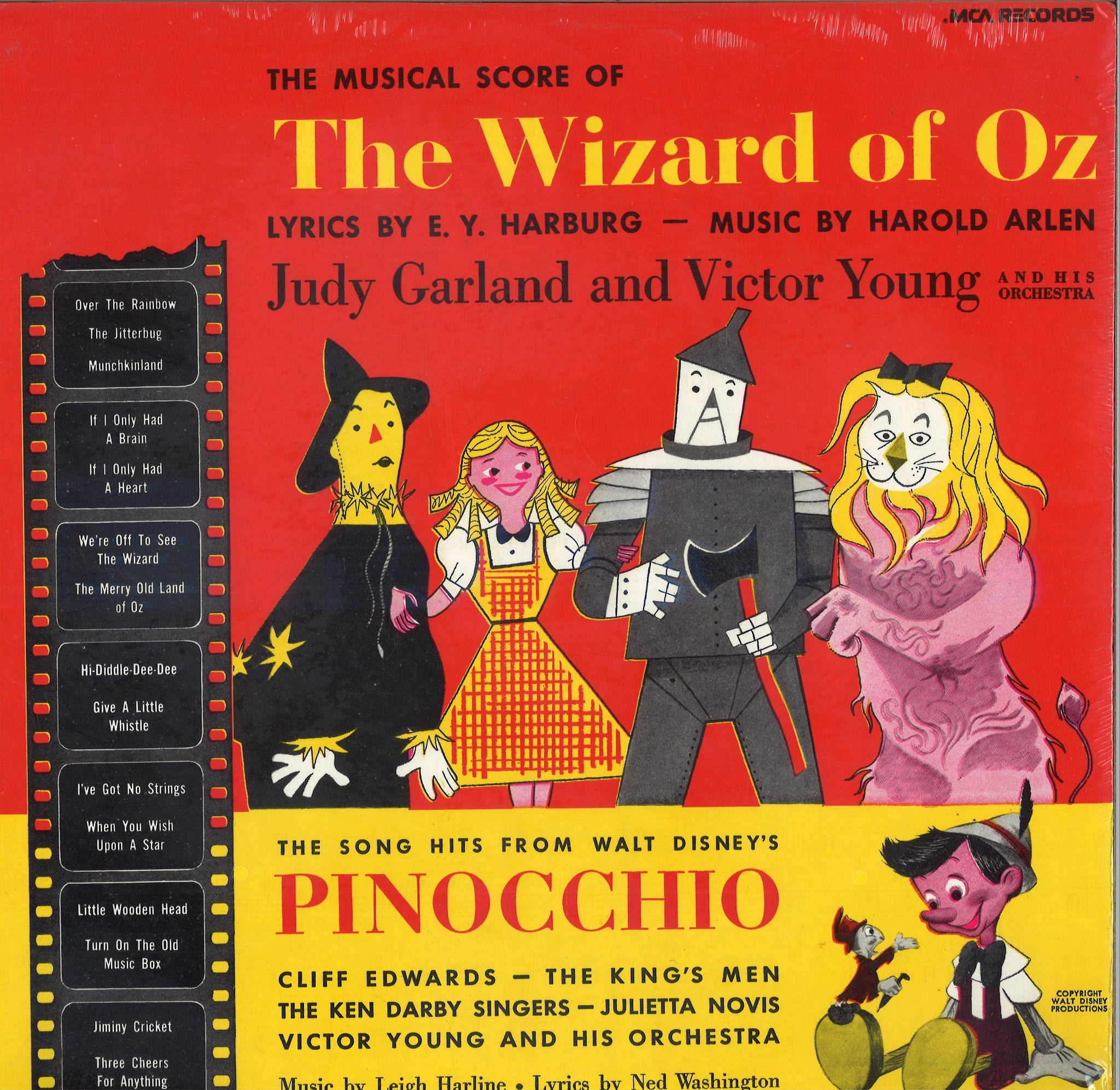 Various Artists Musical Score of the Wizard Of Oz / The Song Hits From Walt Disney's Pinocchio