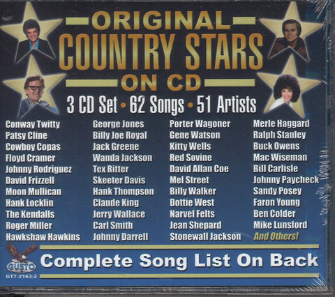 Various Artists Original Country Stars On CD: 3 CD Set