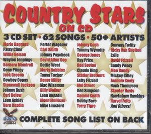 Various Artists Country Stars On CD: 3 CD Set