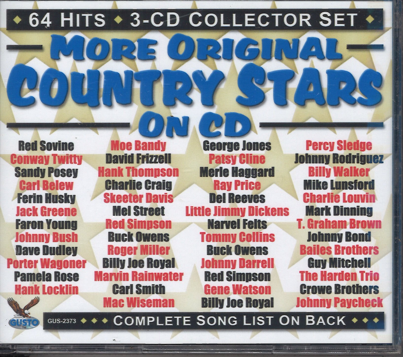 Various Artists More Original Country Stars On CD: 3 CD Set