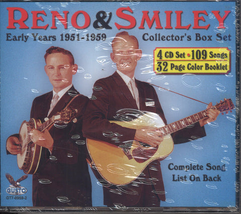 Reno & Smiley Early Years 1951-1959: 4 CD Set