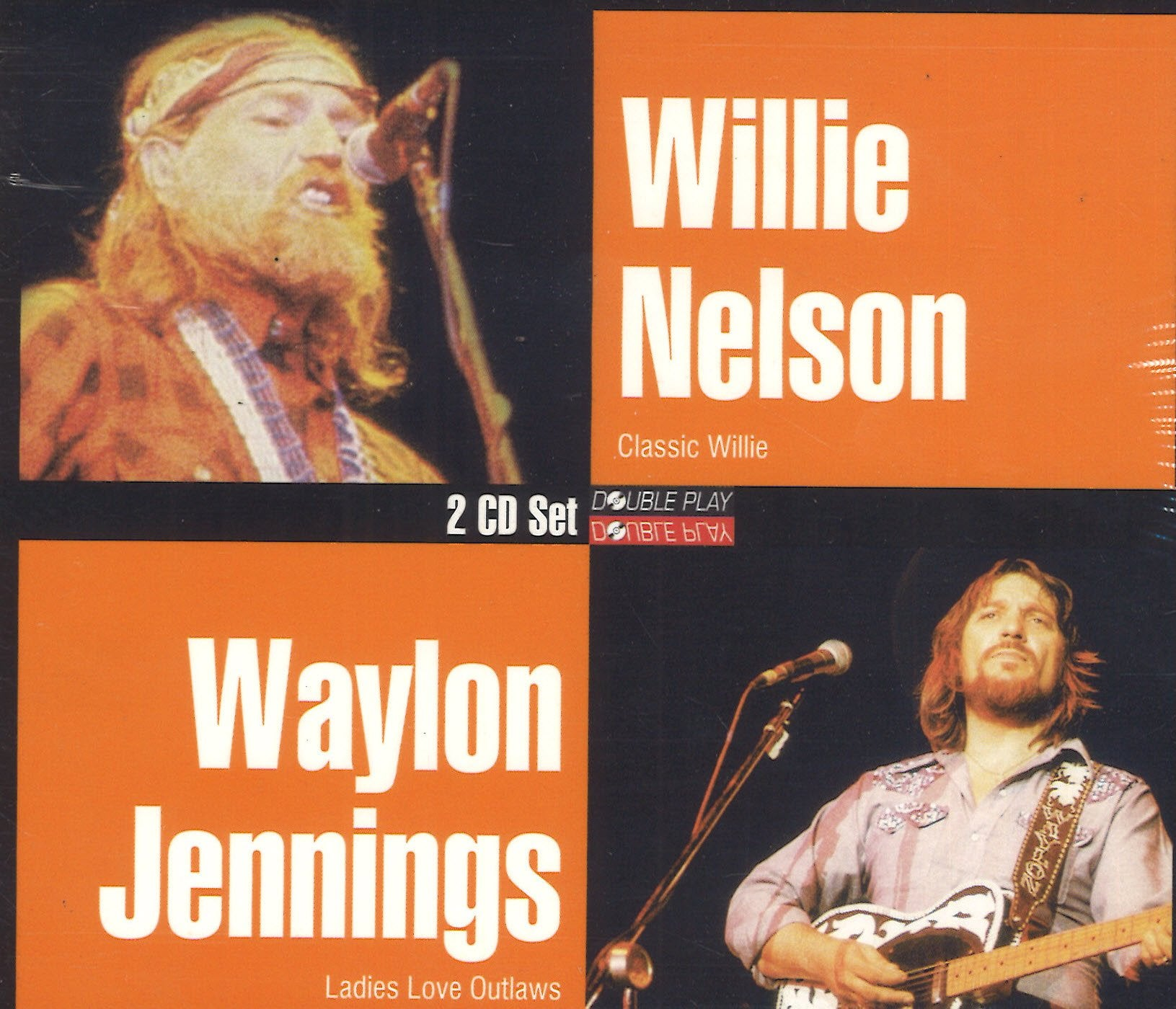 Waylon Jennings & Willie Nelson Classic Willie / Ladies Love Outlaws: 2 CD Set