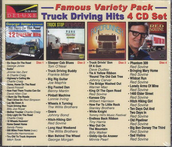 Various Artists World Famous Variety Pack Trucker: 4 CD Set
