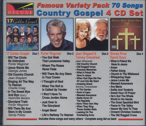 Various Artists World Famous Variety Pack Country Gospel: 4 CD Set