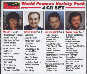 Various Artists World Famous Variety Pack Country 1: 4 CD Set
