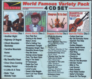 Various Artists World Famous Variety Pack Bluegrass: 4 CD Set