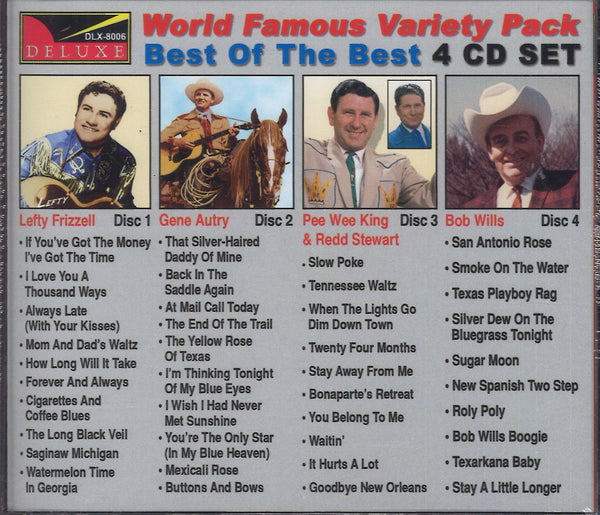 Various Artists World Famous Variety Pack Country 3: 4 CD Set