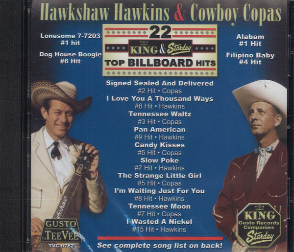 Hawkshaw Hawkins & Cowboy Copas 22 King & Starday Top Billboard Hits