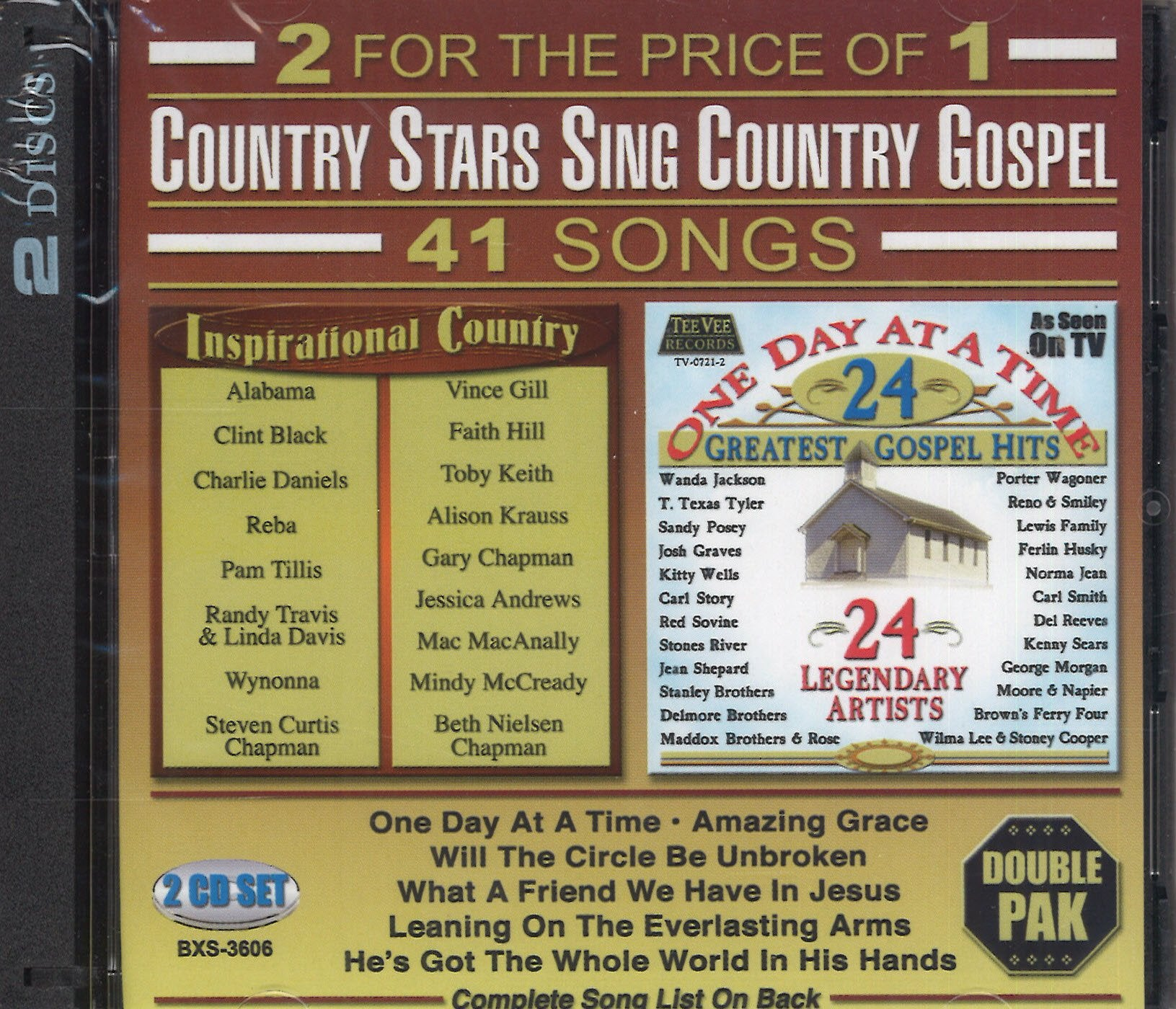 Various Artists Country Stars Sing Country Gospel: 2 CD Set