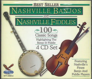 Nashville Banjos & Nashville Fiddles 100 Classic Songs: 4 CD Set