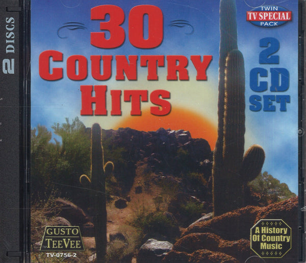 Various Artists 30 Country Hits: 2 CD Set