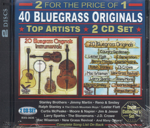 Various Artists 40 Bluegrass Originals: 2 CD Set
