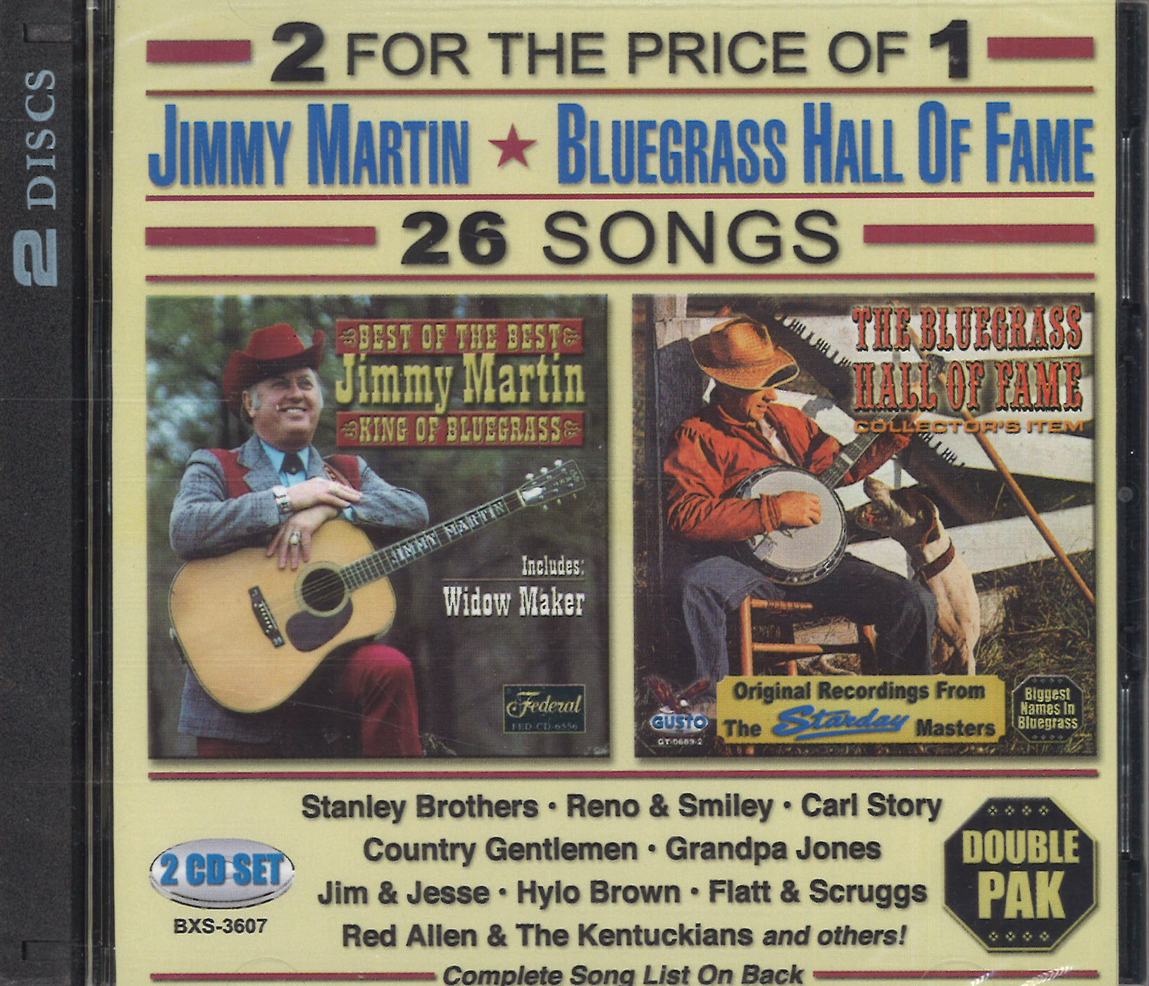 Various Artists Jimmy Martin & Bluegrass Hall Of Fame: 2 CD Set