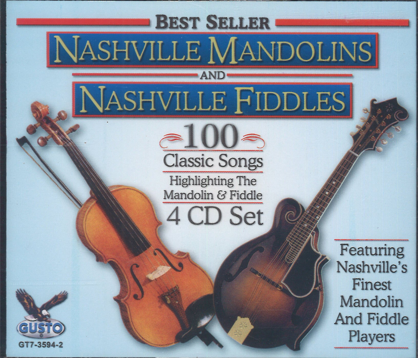 Nashville Mandolins & Nashville Fiddles 100 Classic Songs: 4 CD Set