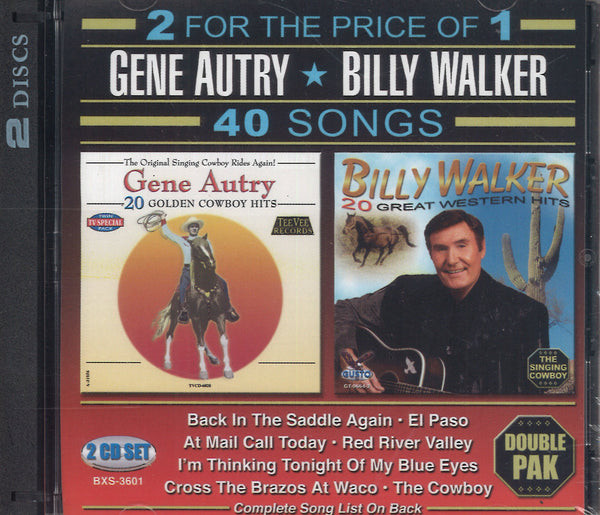 Gene Autry & Billy Walker: 2 CD Set