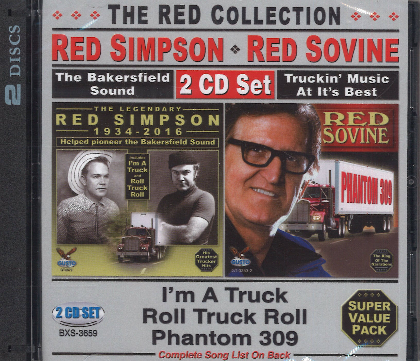 Red Sovine & Red Simpson The Red Collection: 2 CD Set