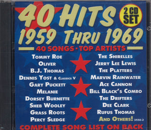 Various Artists 40 Hits 1959-1969: 2 CD Set