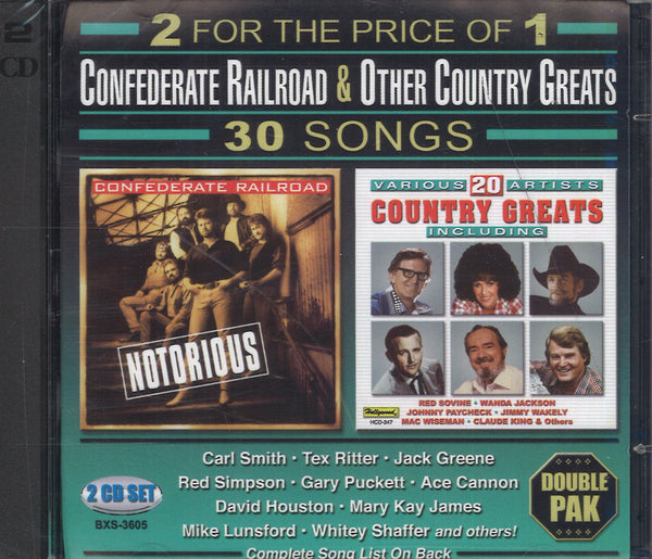 Confederate Railroad & Other Country Greats: 2 CD Set