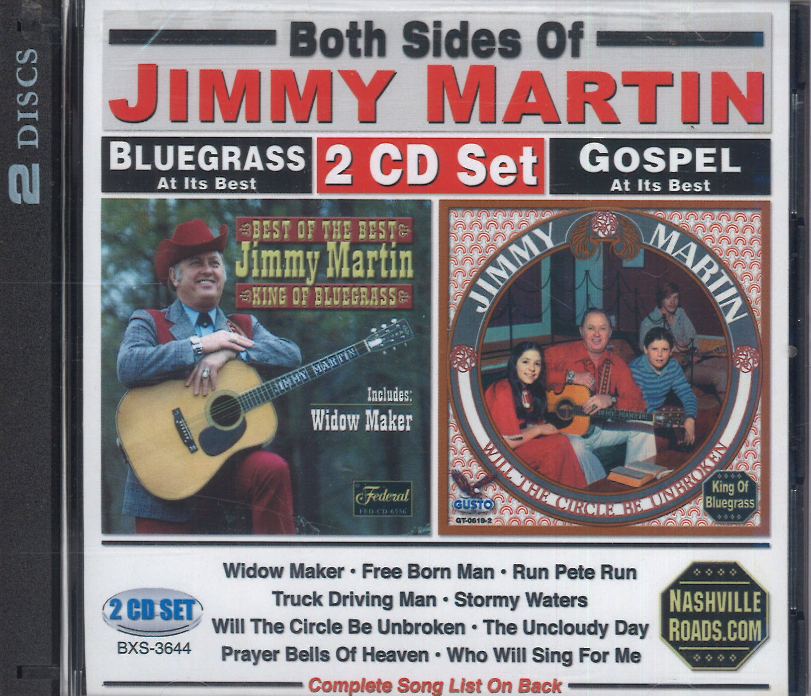 Both Sides Of Jimmy Martin: 2 CD Set