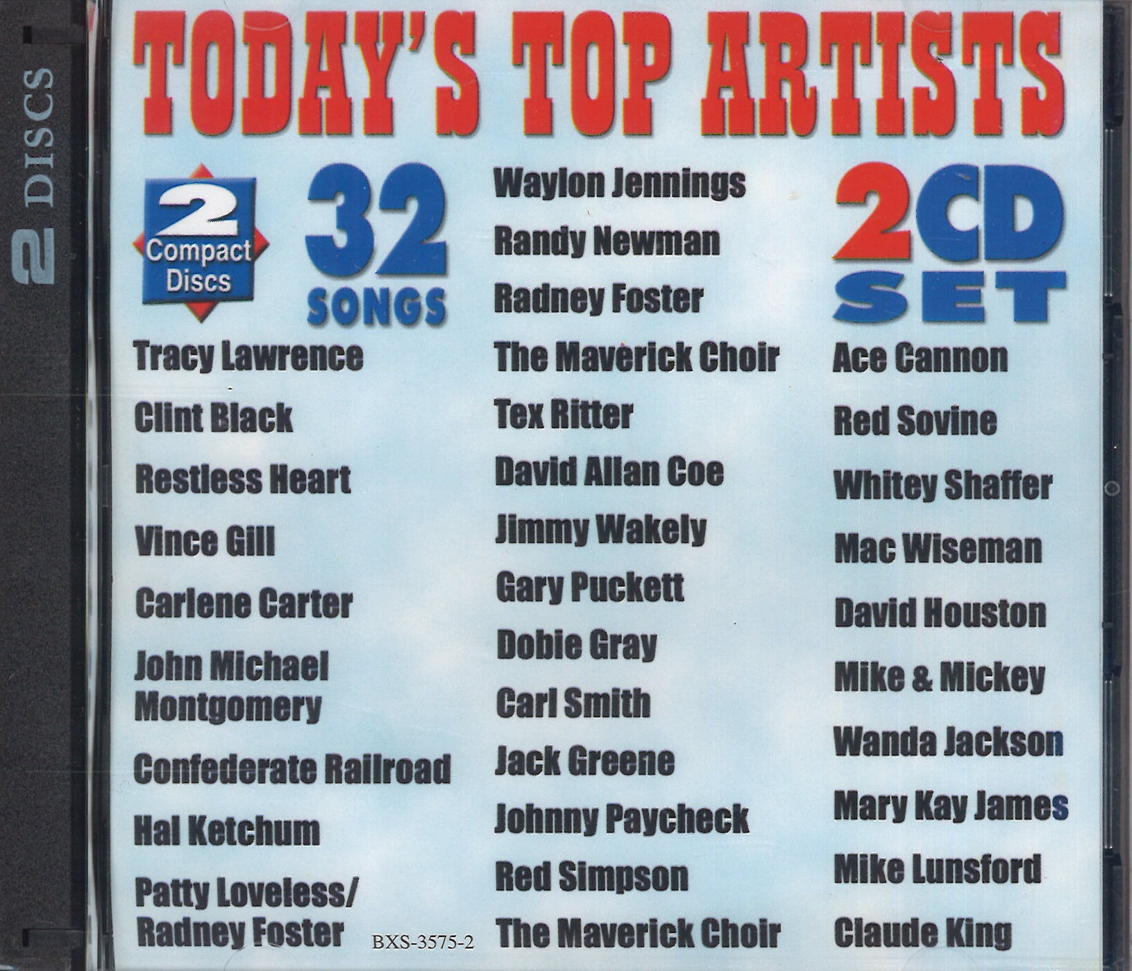 Various Artists Today's Top Artists: 2 CD Set