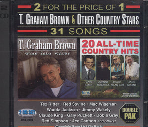 T. Graham Brown & Other Country Stars: 2 CD Set