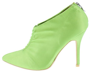 Camilla095 Green Gathered Front Satin Ankle Boot - Wholesale Fashion Shoes ?id=4247029055553